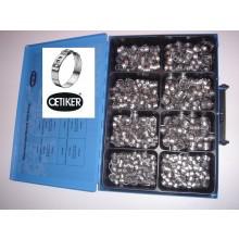 2 Ohr Klemme 155 Stk NEU Oetiker Schlauchklemmen Sortiment 1-Ohr Einlagering